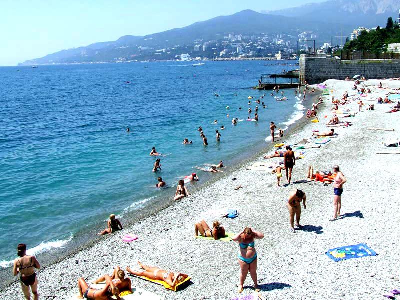 Пляж, Хэппи отель, Ялта, Крым - путевки и отдых.