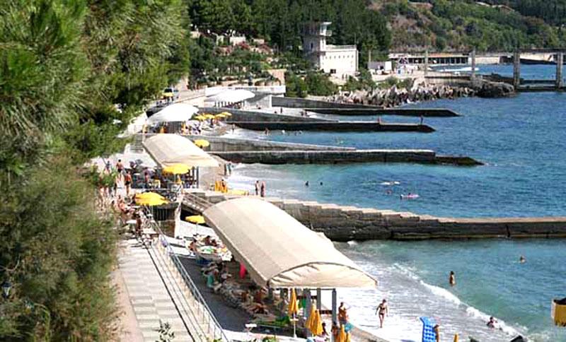 Фото пляжа, Айвазовское, Алушта, Крым - путевки и отдых.