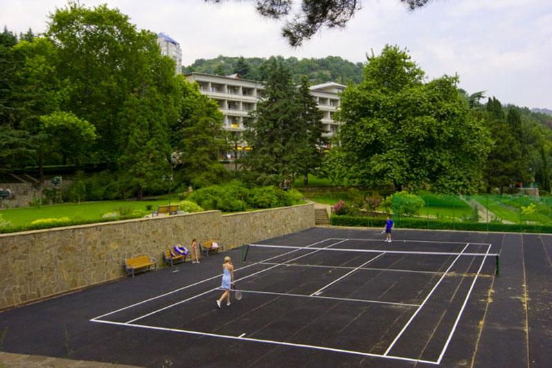 Фото теннисного корда, Айвазовское, Алушта, Крым - путевки и отдых.
