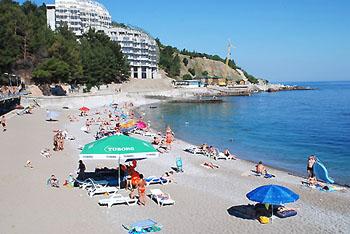 """""""Кастрополь"""" пансионат, Форос, Крым. Пляж."""